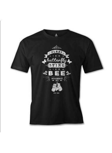 Lord Tshirt Muhammad Ali - Sting Like A Bee Siyah Erkek Tshirt Siyah